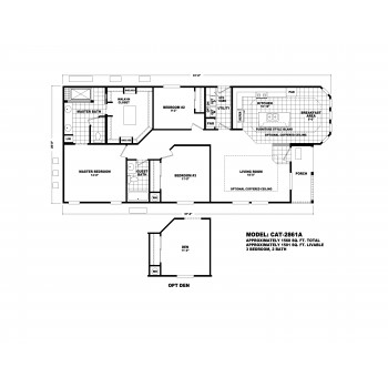 Durango CAT-2861A Floor Plan
