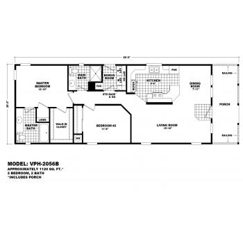 Durango Model VPH-2056B Manufactured Home Floor Plan