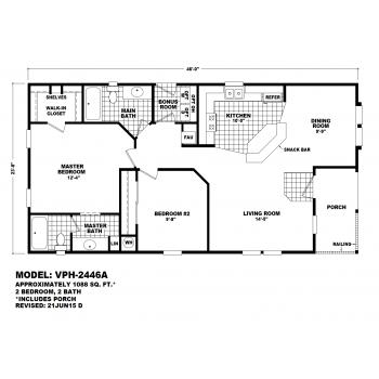 Durango Model VPH-2446A  Manufactured Home Floor Plan