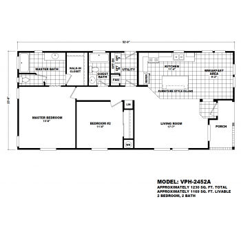 Durango Model VPH-2452A  Manufactured Home Floor Plan