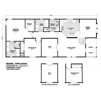 Durango Model VPH-2456A  Manufactured Home Floor Plan