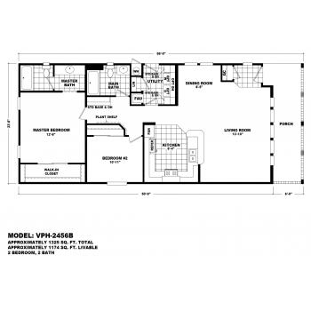 Durango Model VPH-2456B  Manufactured Home Floor Plan