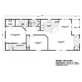 Durango Model VPH-2456C  Manufactured Home Floor Plan