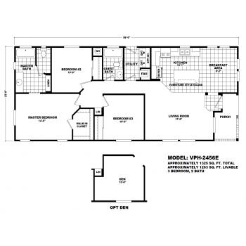 Durango Model VPH-2456E  Manufactured Home Floor Plan