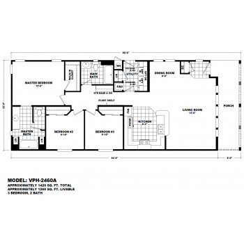Durango Model VPH-2460A  Manufactured Home Floor Plan