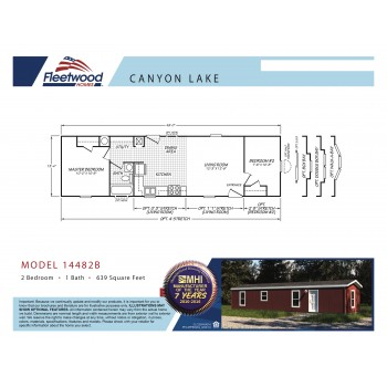 Fleetwood Home 14482B Manufactured Home Floor Plan