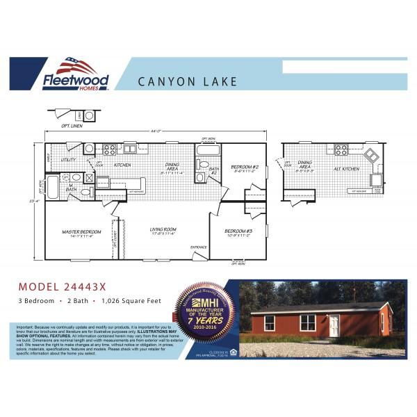 Fleetwood Home 24443X Manufactured Home Floor Plan