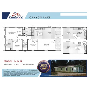 Fleetwood Home 24563P Manufactured Home Floor Plan