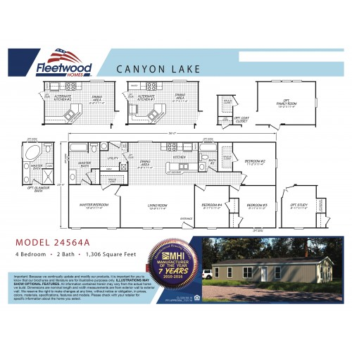 Mobile Home Floor Plan   Fleetwood   Model CL-24564A on plans for pool, plans for apartment complexes, plans for construction, plans for garages, plans for gates, plans for furniture,