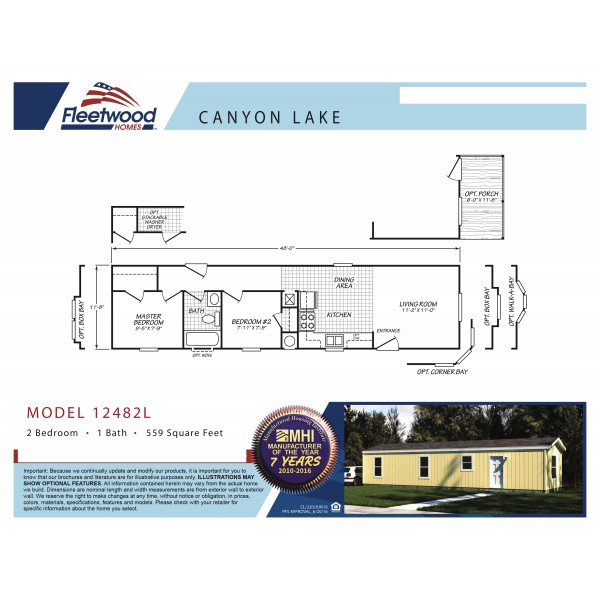 Fleetwood Home 12482L Manufactured Home Floor Plan