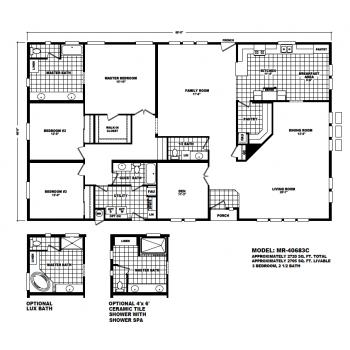 Durango Model MR40683C Manufactured Home Floor Plan