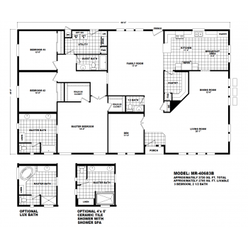 Durango Model MR40683B Manufactured Home Floor Plan