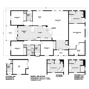 Durango Model MR40704A Manufactured Home Floor Plan