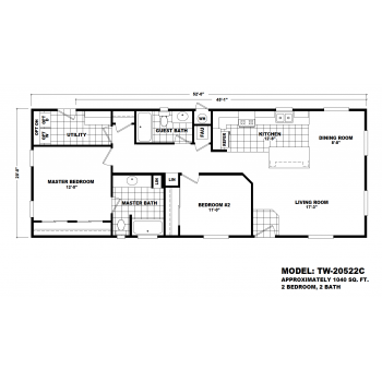 Durango Model TW-20522C Manufactured Home Floor Plan