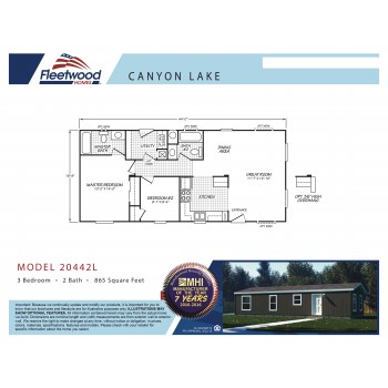 Fleetwood Home 20442L Manufactured Home Floor Plan