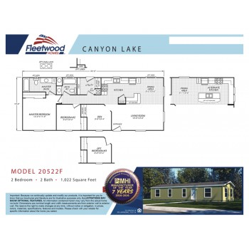 Fleetwood Home 20522F Manufactured Home Floor Plan