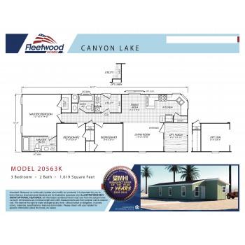 Fleetwood Home 20563K Manufactured Home Floor Plan