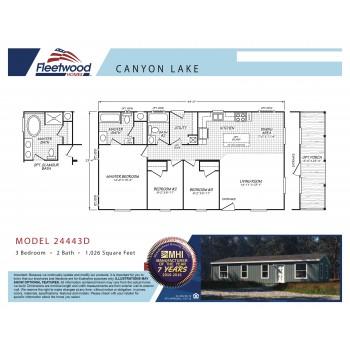 Fleetwood Home 24443D Manufactured Home Floor Plan