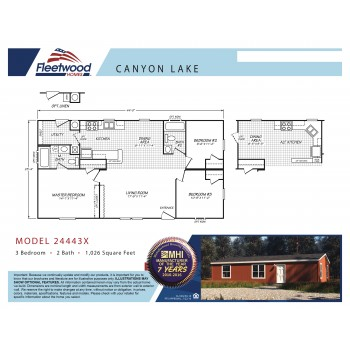 Fleetwood Home 24443X Manufactured Home Floor Plan