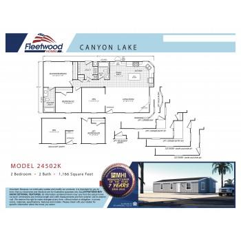 Fleetwood Home 24502K Manufactured Home Floor Plan