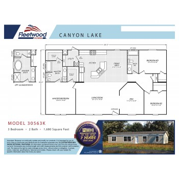 Fleetwood Home 30563K Manufactured Home Floor Plan